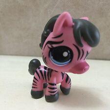 Littlest Pet Shop Pink/Gray/Black Zebra #2078 Blue Eyes SHIPS FREE 9 pictures
