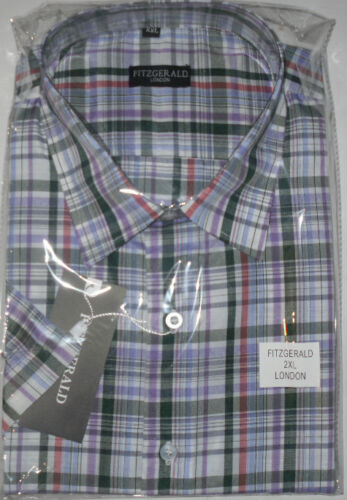 KING SIZE Fitzgerald nuovo controllo Camicie Morgan 2xl,3 XL,4 XL,5 XL,6 XL,7 XL