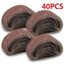 40X SANDING BELTS 75X533MM MIXED GRADE 40 60 80 120 GRIT FIT BOSCH Makita SANDER