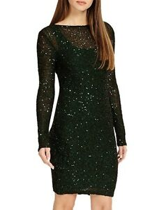 New Ladies Ex Phase Eight RRP £110 Pine Juana Sequinned Party Dress Size 6-18