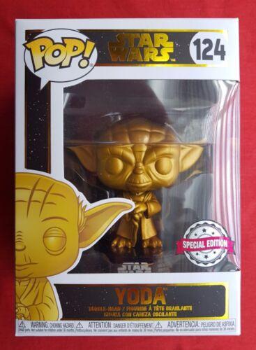 Funko POP Star Wars Yoda Gold #124 NEUF-Special Edition-Metallic Chrome