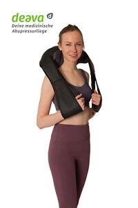 Tragbares-Shiatsu-Schulter-amp-Nacken-Multifunktions-Massagegeraet-mit-Waermefunktion