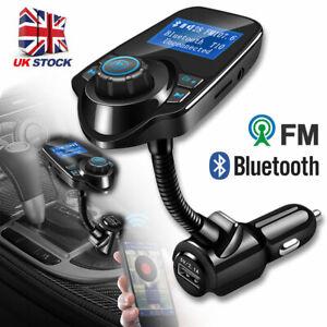 Wireless Bluetooth Car MP3 Player FM Transmitter Radio LCD SD USB Charger Kit