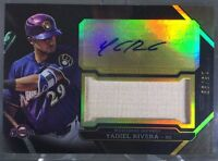 2016 Topps Triple Threads YADIEL RIVERA GU Bat Relic AUTO #15/99 SP Brewers