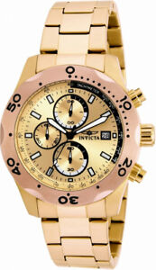 Invicta-Specialty-17753-Men-039-s-Round-Gold-Tone-Chronograph-Date-Analog-Watch