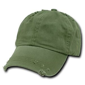 996e86f095e Image is loading Olive-Green-Vintage-Distressed-Weathered-Torn-Polo-Baseball -
