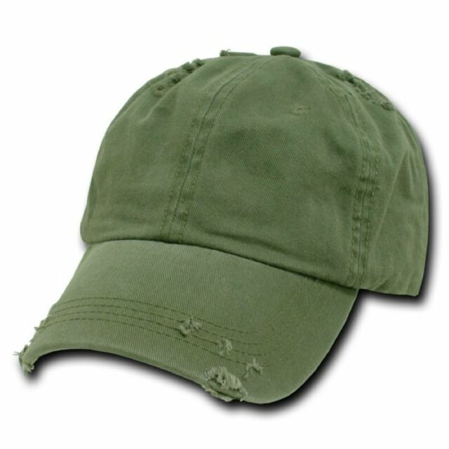 Olive Green Vintage Distressed Weathered Torn Polo Baseball Cap Caps Hat  Hats 56732d30a66