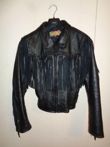 Easyriders Ladies Black Fringed Leather Jacket – … - image 1