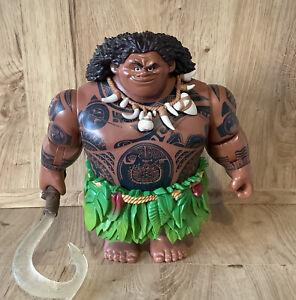 Disney negozio Maui azione Bambola parlante che canta Light Up 31cm grande figura MOANA
