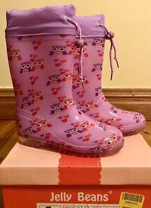 Jelly-Beans-Pink-Owl-Rain-Boot-Size-13-EU-32