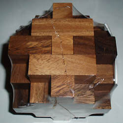 Ramube Octahedron wood brain teaser puzzle - very challenging