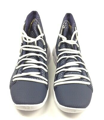 size 40 5cee7 f06e2 New Under Armour HOVR Havoc Mid Basketball Shoes Men's 9 Navy White 3020617  | eBay