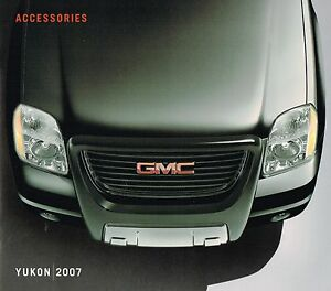 Image Is Loading 2007 Gmc Yukon Truck Options Accessories Brochure Catalog