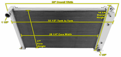 "17/""H x 28 1//4/""W C10 Suburban Custom Aluminum Radiator Fan Shroud /& 2-14/"" Fans"