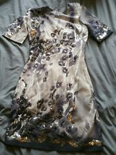 Karen Millen Snow Leopard Animal Print Embellished Dress DK183, Size 6 RRP £250