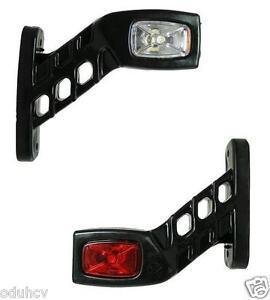 2 RECOVERY SIDE MARKER OUTLINE LED LIGHTS LAMPS 12 24 VOLT TRAILER