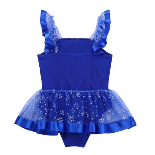 Girls Sequined Ballet Leotard Dress Kids Tutu Skirt Ballerina Dancewear Costume