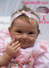 "18"" Soft Vinyl Real Life Like Reborn Baby Dolls Silicone Newborn Dolls Xmas Gift"