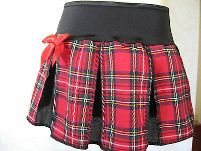 NEW  Baby Girls Black white tartan check pleated Goth Rock Punk party Skirt Gift
