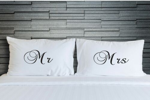Imprimé taies m et mme chambre literie mariage nouveauté cadeaux WSD748