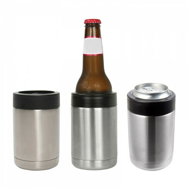 12oz Can Beer Cooler Keeper Insulator Holder Thermos Cold Vacuum Stainless Steel