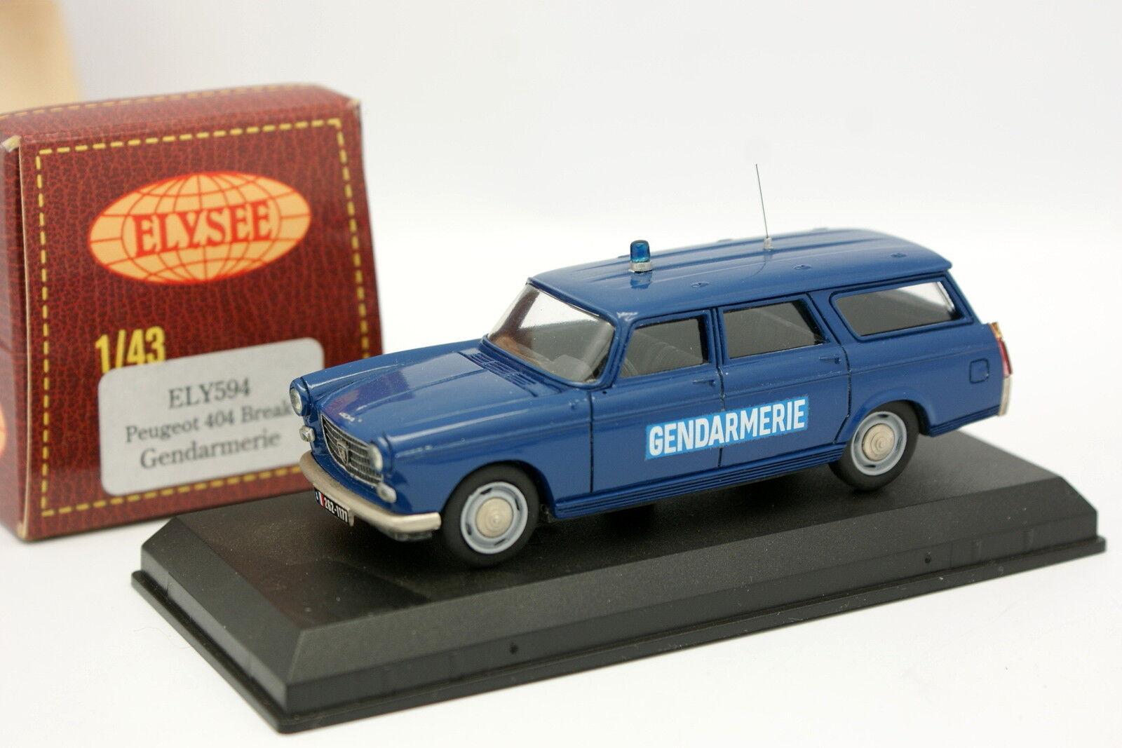 Elysee 1 43 - Peugeot 404 Break Gendarmería