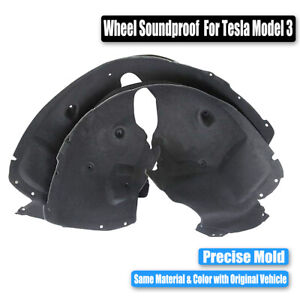 1-Pair-Front-Wheel-Arch-Soundproof-Cotton-Protective-Pad-For-Tesla-Model-3-17-19