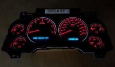 Silverado Yukon Sierra Tahoe Instrument Gauge Cluster Speedometer Red Leds