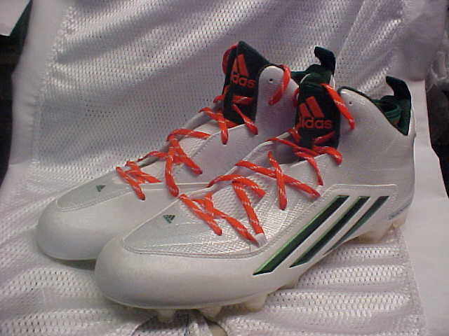 newest de090 6bf1f Miami Hurricanes adidas SM Crazyquick 2.0 Molded Football Cleats B54328 Sz  12  eBay