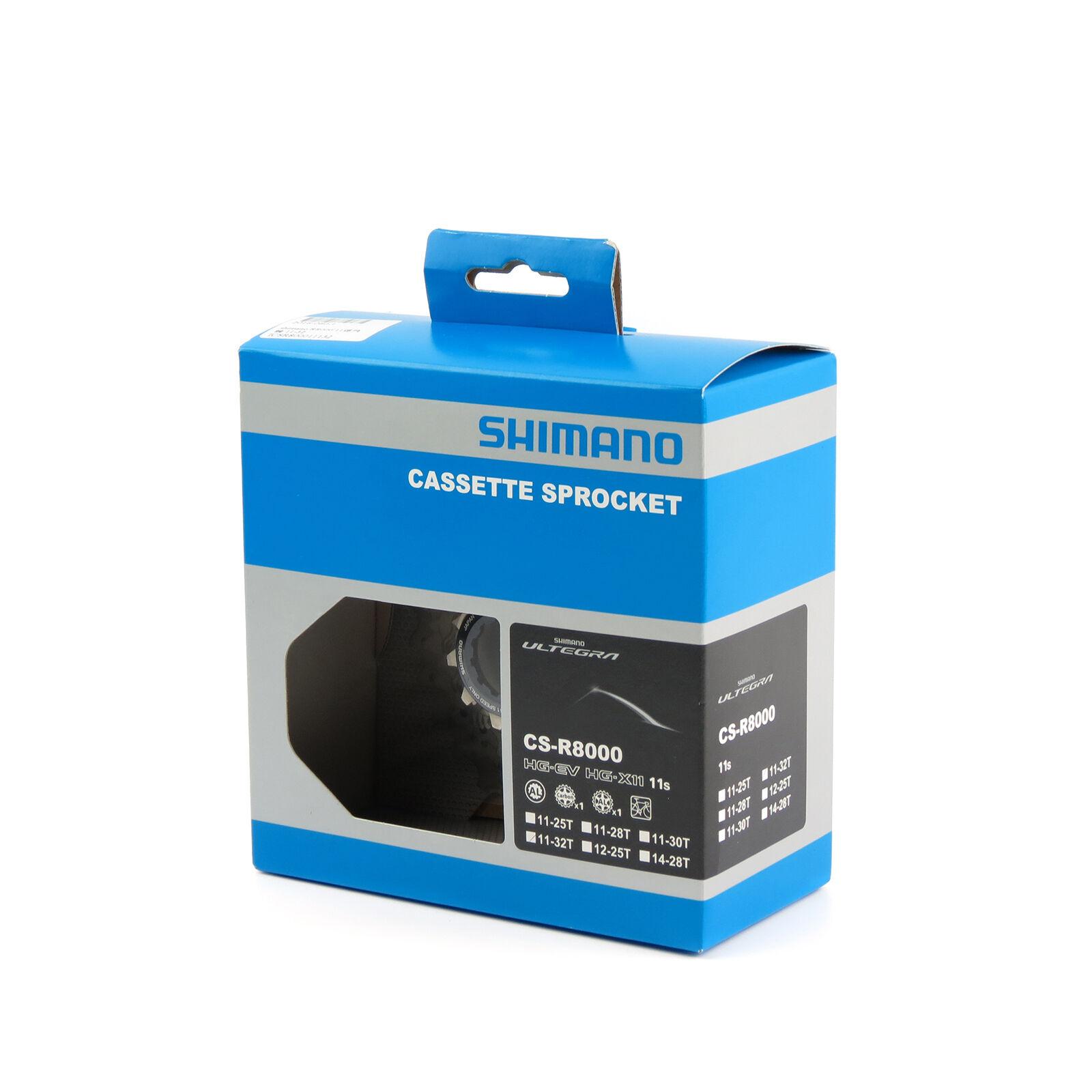 Shimano Ultegra CS-R8000 11 Speed Road Bike Cassette Freewheel - 11-32T (Box)