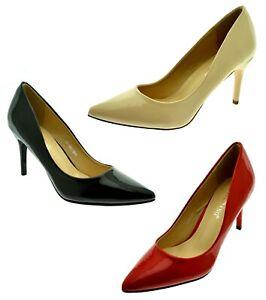 Scarpe-donna-decolte-nere-con-tacco-spillo-medio-decollete-lucide-tacchi-vernice