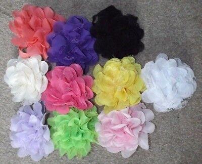 10 Colori Diversi Grande Fiore In Chiffon E Pizzo Bambino Principessa Fiore Fascia- Dolcezza Gradevole