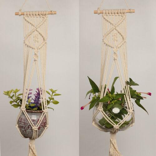 Large Pot Holder Macrame Plant Hanger Hemp Rope Braided Hanging Planter Basket