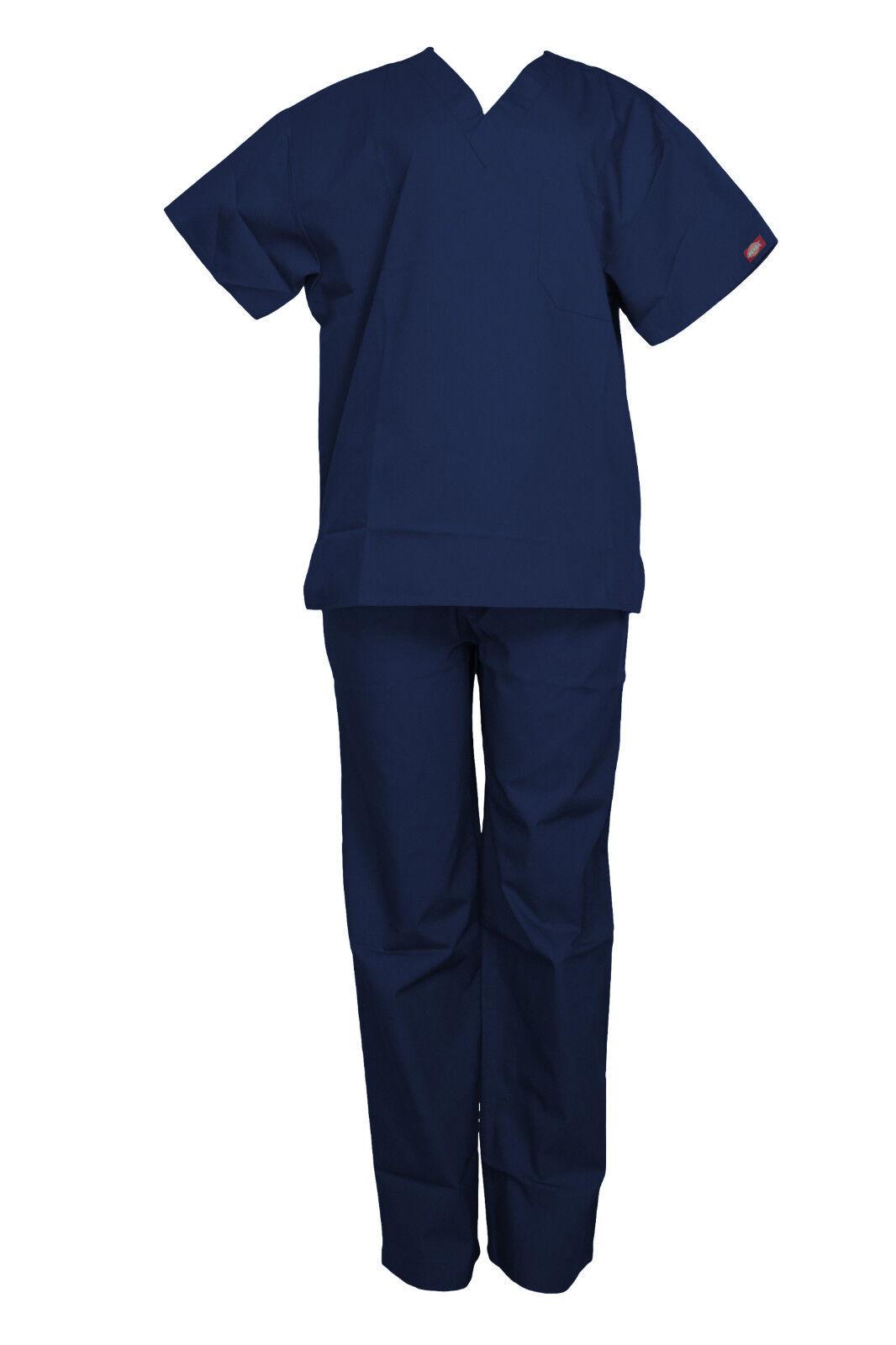 Dickies Unisex Blu Scuro Scrub Set Medico Coulisse Maglia Scollo a V Coulisse Medico b4f4d8