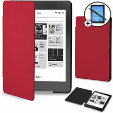 Forefront Cases® Red Smart Case Cover Kobo Aura Edition 2 Screen Prot & Stylus