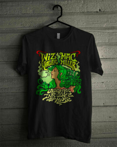 Vtg Mac Miller Wiz Khalifa Under The Influence of music tshirt gildan reprint