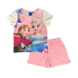 Pijama Nina Disney Frozen Camiseta Y Pantalones Cortos De Algodon Anna Elsa 1023 Ebay