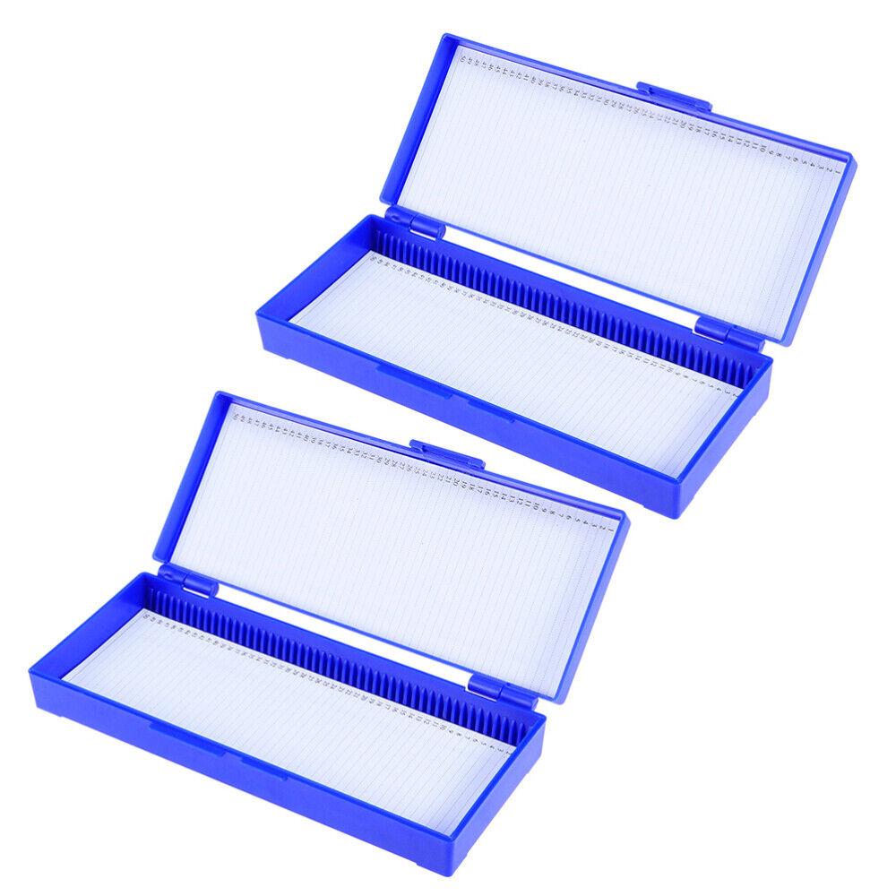 School for Slide Holders Slide Cases Practical Simple Durable 2Pcs Slide Box