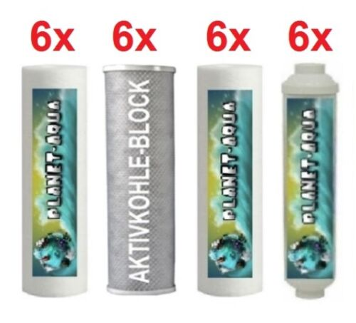 Membrane Ersatzfilter Set 3 Jahre für Umkehr Osmose Osmoseanlage Wasserfilter