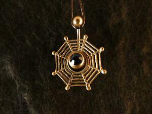 Piercing-24-Karat-Gold-Anhaenger-925-Silber-Spinnennetz-Bauchnabel-Stein-Blau