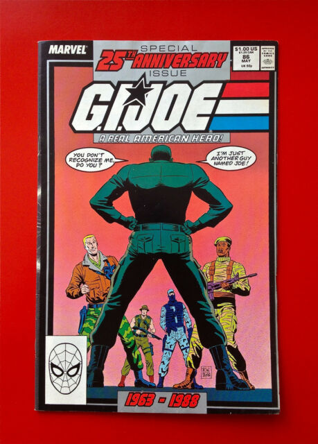 G.I. Joe Comic Book #86 Marvel Gi Joe 25th Anniversary Issue 86