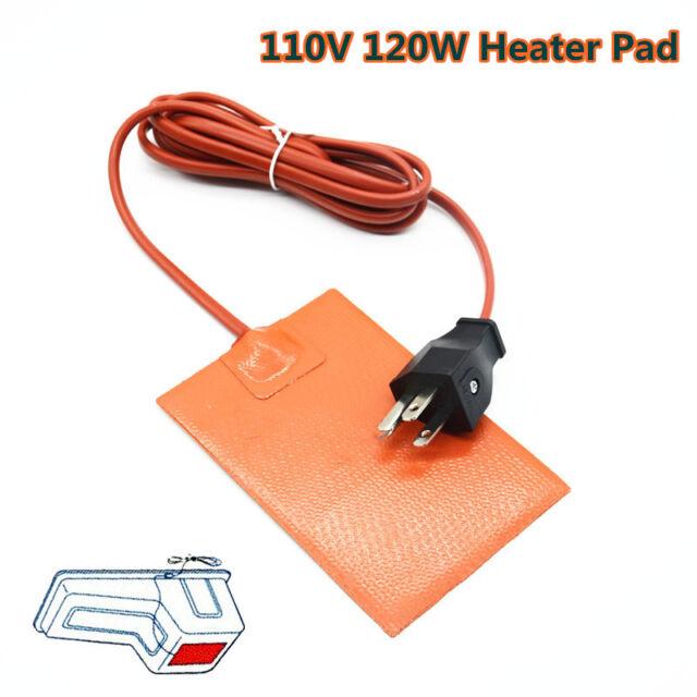 Car Engine Heater Oil Sump Pan Tank 175 Watt 110V Silicone Heater Pad 130x90mm