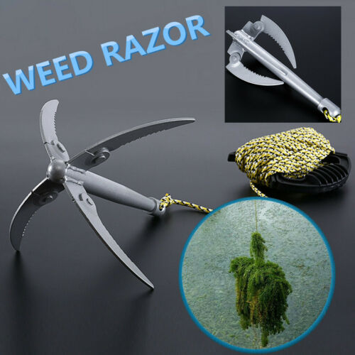 Folding Wide Bend Angle Weed Razor+15 Meters Rope For Removing Water Plants 2019