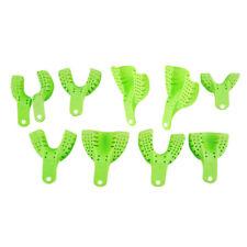 10 Pcs Plastic Dental Supply Impression Trays Dental Teeth Holder For Oral Tools