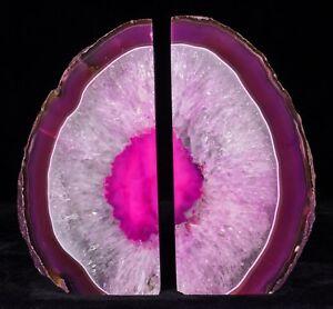 8Lbs-Agate-Bookends-Geode-Crystal-Polished-Quartz-Druzy-Brazil-Specimen