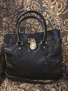 Image Is Loading Michael Kors Hamilton Large Satchel Handbag Bag Designer