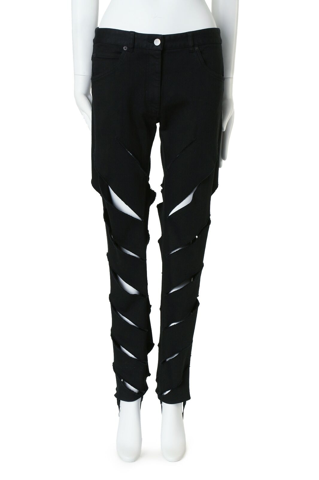 MARTIN MARGIELA diagonal slit deconstructed ripped jeans IT44 31