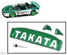 'New' Scalextric W9301 Honda NSX Takata Car Rear Wing Spoiler, Mirrors & Aerial