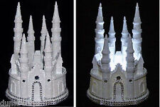 Glittered And Gemmed Cinderella Fairytale Castle/Wedding Cake Topper/Night Light