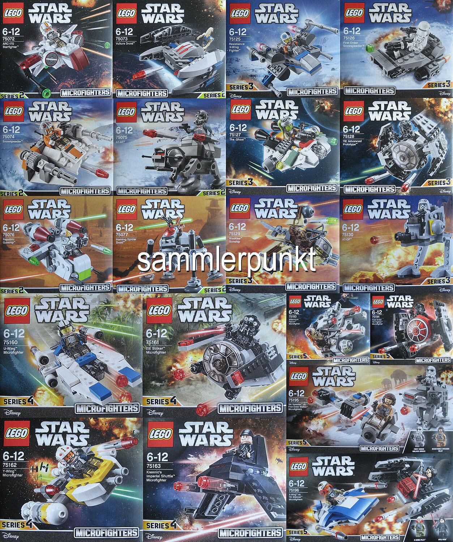 1 LEGO® STAR WARS MICROFIGHTERS KOMPLETTSATZ -OVP- Ihrer Wahl